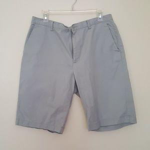 Calvin Klein gray flat front shorts size 34